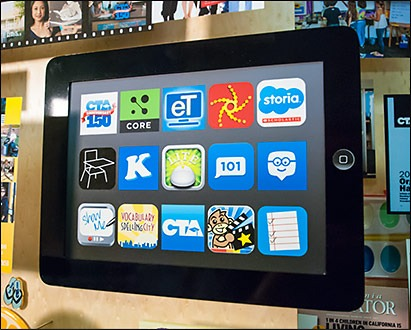 iPad displaying apps used by CTA