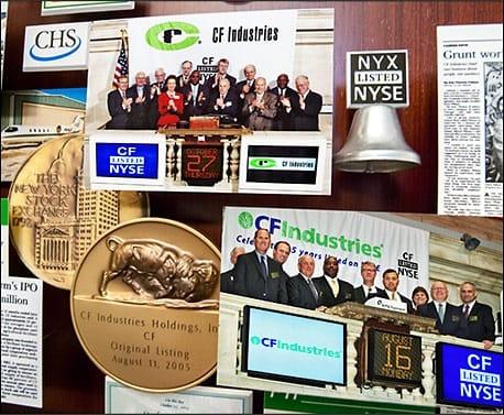 CF Industries on the New York Stock Exchange