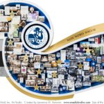 Washburn University 150th Anniversary Art. Features sesquicentennial logo. Founders, Diversity. Campus photos.