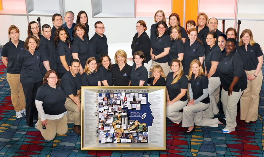 Large collage for American Academy of Audiology unveiled at anniversary celebration.